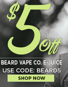 $5 off coupon for Beard Vape Co